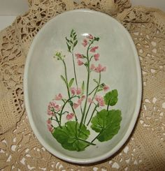 Salt Marsh Pottery Dartmouth MA Hanging Bowl CANDY TUFT '93 French Country