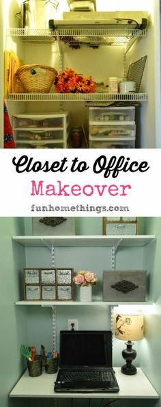 Closet to Office Makeover {Reveal} - Fun Home Things