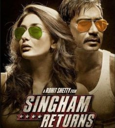 Rohit Shetty's upcoming film poster 'Singham Returns' was launched which has both Ajay Devgan and Kareena Kapoor Khan in it. Vaikundarajan adds that this is the sequel to the film 'Singham' which was a big hit Hindi Movie Song, Movie Songs, Audio Songs, Cinema Movies, Mp3 Song, Movies 2014, Latest Movies, Watch Hindi Movies Online, Watch Movies