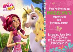 MIA AND ME PARTY Mia and Me Invitation  CUSTOM  NEW  Printable by JustAddFrosting, $10.00