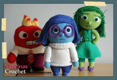 Sadness Inside Out Free Amigurumi Crochet Pattern has the whole cast of inside out free