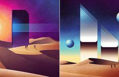 Colorful Geometrical Futuristic Illustrations