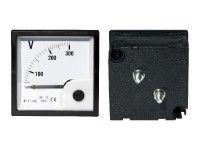 Voltmeter analógový veľký 300V AC, štvorec