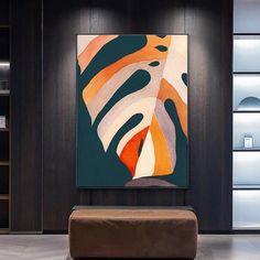 Abstract Canvas Art, Diy Canvas Art, Acrylic Painting Canvas, Canvas Artwork, Modern Art Paintings, Modern Artwork, Modern Pop Art, Painted Leaves, Large Canvas