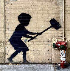 Street Art Banksy, Banksy Graffiti, Bansky, Banksy Posters, Banksy Artwork, Peel N Stick Wallpaper, Photo Mural, Wall Stickers, Color Change
