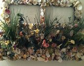 Seashell Planter Box With Dried Flowers And Pane Window by RoseAntiqueBoutique on Etsy, $149.99 USD SOLD
