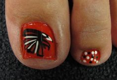 if they go to the superbowl...this is what my toes will look like