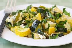 Roasted Zucchini with Green Onions, Feta Cheese, and Basil (I'm making this)