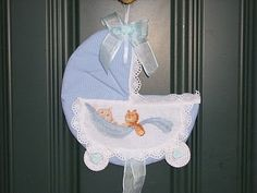 Baby Door Decorations, Baby Baptism, Baby Shower, Applique Embroidery Designs, Country Chic, Shabby Chic, Decoupage, Diy And Crafts, Handmade
