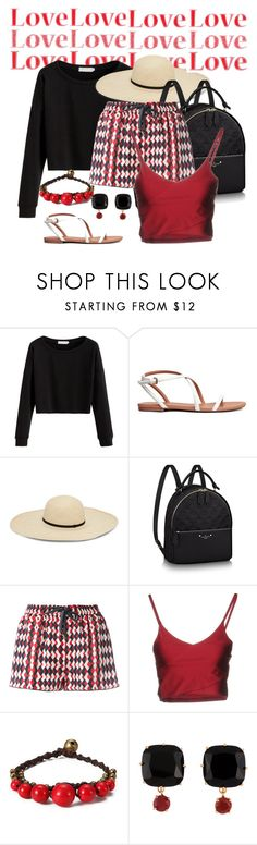 """Red & Black Together"" by shamrockclover ❤ liked on Polyvore featuring F.R.S For Restless Sleepers, Boutique de la Femme and Les Néréides"