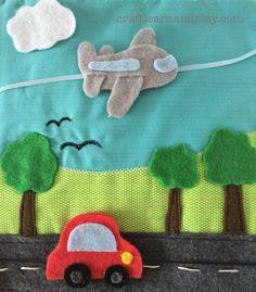 quiet book page car