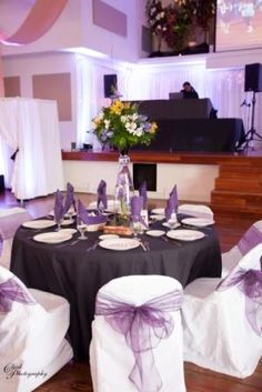 Cheap Chair Cover Rentals Desk Chairs For Teens Dark Purple Table Linen, White Damask Covers & Sashes | Theme Wedding/event ...