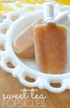 Sweet Tea Popsicles - the perfect Summer treat!