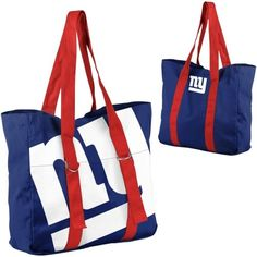 New York Giants Ladies Big Logo Tote - Royal Blue/Red