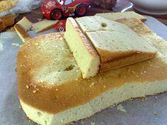 3d lightning mcqueen car cake template free - Google Search