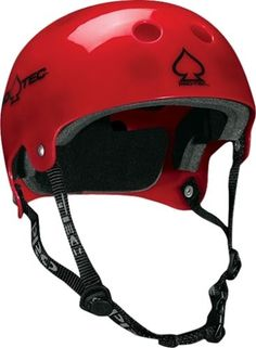 PROTEC LASEK CLASSIC SKATE HELMET XS-RED TRANSLUCENT HELMET