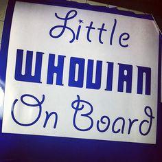 Whovian on Board  Doctor Who Car Decal Sticker by TurboNerd, $5.00
