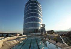 Seminar Hotel Four Points by Sheraton - Panoramahaus Dornbirn Das Hotel, Burj Khalifa, Building, Travel, Event Room, Underground Garage, Shopping Mall, Contemporary Architecture, Places