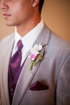 Groomsmen orchid boutonniere