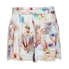 Painted Blossom Short found on Polyvore