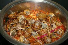 Hoy San Prudencio y en este día Caracoles | La Cocina Paso a Paso Chorizo, Tapas, Coco, Carne, Shrimp, Meat, Chicken, Fruit, One Pot Dinners