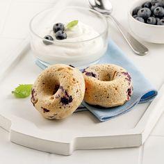 Beignets aux bleuets - Les recettes de Caty Biscuits Graham, Brunch, Beignets, Omelette, Bagel, Muffins, Bread, Fruit, Desserts