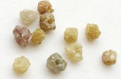 Large Hole Yellow Rough Diamond Beads 1mm Drilled by gemsforjewels