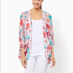 Charming Charlie Floral Kimono worn once- great condition Charming Charlie Sweaters Cardigans