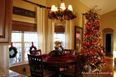 Christmas tree in the kitchen.