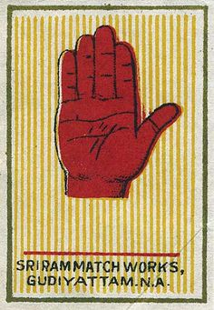 vintage matchbox cover from India