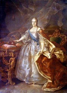 Catherine II of Russia by Ivan Argunov, 1762