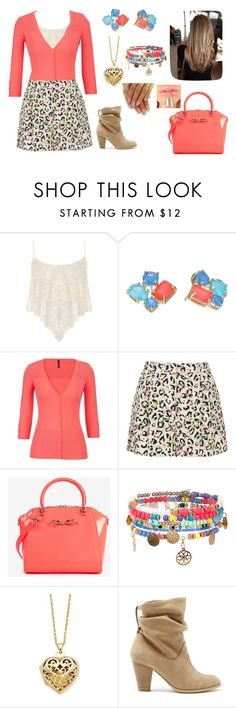"""Peach"" by julie-ruud ❤ liked on Polyvore featuring Papermoon, Kate Spade, maurices, Topshop, Ted Baker, Monsoon, Giani Bernini and Sole Society"