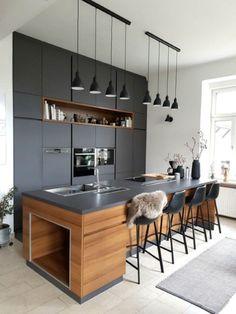Luxury Kitchen Design, Best Kitchen Designs, Interior Design Kitchen, Home Design, Design Ideas, Design Inspiration, Design Styles, Bar Designs, Design Design