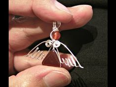 ▶ {DIY CHRISTMAS} Angel Pendant II - How to make a silver wire wrapped Gemstone Pendant - YouTube