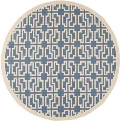 Safavieh Courtyard Carson Power-Loomed Indoor/Outdoor Area Rug or Runner, Blue