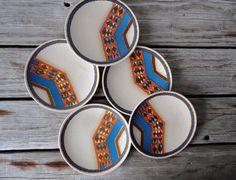 Set on Indian Feast Tepee Plates от OceanSwept на Etsy