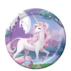 Unicorn Fantasy Party 7 inch Cake/Dessert Plates (8 ct) Creative Converting