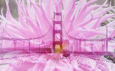 #doubleexposure #sanfrancisco 001 Flowers & History: Golden Gate Bridge with 1 car #photo #art info@artstudio23.com digital or print pic.twitter.com/NF8BNbxRhM #dahlia #pink fotokunst te koop #forsale #gallery #photography