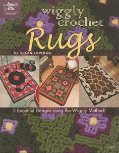Wiggly Crochet Rugs by needlecraftsupershop on Etsy, $7.99