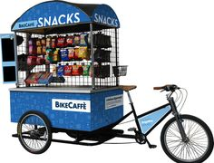 BikeCaffé Snack Bike Food Cart Business, Coffee Business, South Korean Food, Korean Street Food, Mobile Food Cart, Food Cart Design, Bike Cart, Bike Food, Coffee Truck