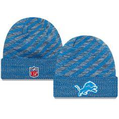 brand new 1a2ab 057af New Era Detriot Lions On Field 2018 Touchdown Winter Knit Hat (Blue)