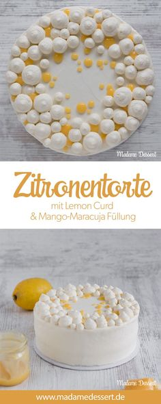 Fruchtige Zitronentorte mit Lemon Curd & Maracuja Füllung Recipe for fruity lemon tart with almond-lemon bases, homemade lemon curd & mango-passion fruit filling. This dream cake is perfect for birthd Cinnamon Cream Cheese Frosting, Cinnamon Cream Cheeses, Cake Recipes, Snack Recipes, Dessert Recipes, Torte Au Chocolat, Curd Recipe, Mince Pies, Pumpkin Spice Cupcakes