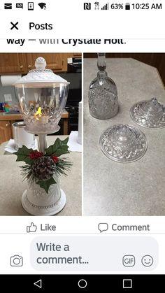 Snowman Christmas Decorations, Dollar Tree Christmas, Diy Arts And Crafts, Holiday Crafts, Simple Christmas, Christmas Ideas, Quarter Auction, Crafts With Glass Jars, Muslim Holidays