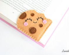 Biscotto segnalibro con gocce di cioccolato, segnalibro ad angolo, biscotto al cioccolato, segnalibro per dolci letture