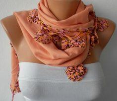 ON SALE  Apricot Scarf   Pashmina  Scarf   Cotton by fatwoman, $27.00