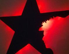 💜⭐🌠😘David Bowie Blackstar with a hint of Ziggy by BlackstarDisplays