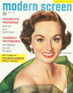 April 1955.  Ann Blyth.