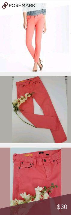J Crew Jeans Matchstick Skinny Coral Pink 27 J Crew Matchstick Skinny Jeans In Coral Pink Size 27 Inseam 31 Rise 8 J. Crew Jeans Skinny