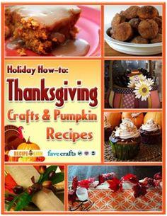 FREE e-Book: Thanksgiving Crafts and Pumpkin Recipes!