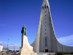 Friday, 3:30 p.m. Hallowed Halls To get your bearings, take the elevator to the top of the austere Hallgrimskirkja, an imposing pale gray church whose distinctive stepped-slope facade frames a tower (admission, 700 kronur, or about $6 at 118 kronur to the dollar) from which a bird's-eye view of the city's colorful rooftops and compact downtown awaits.